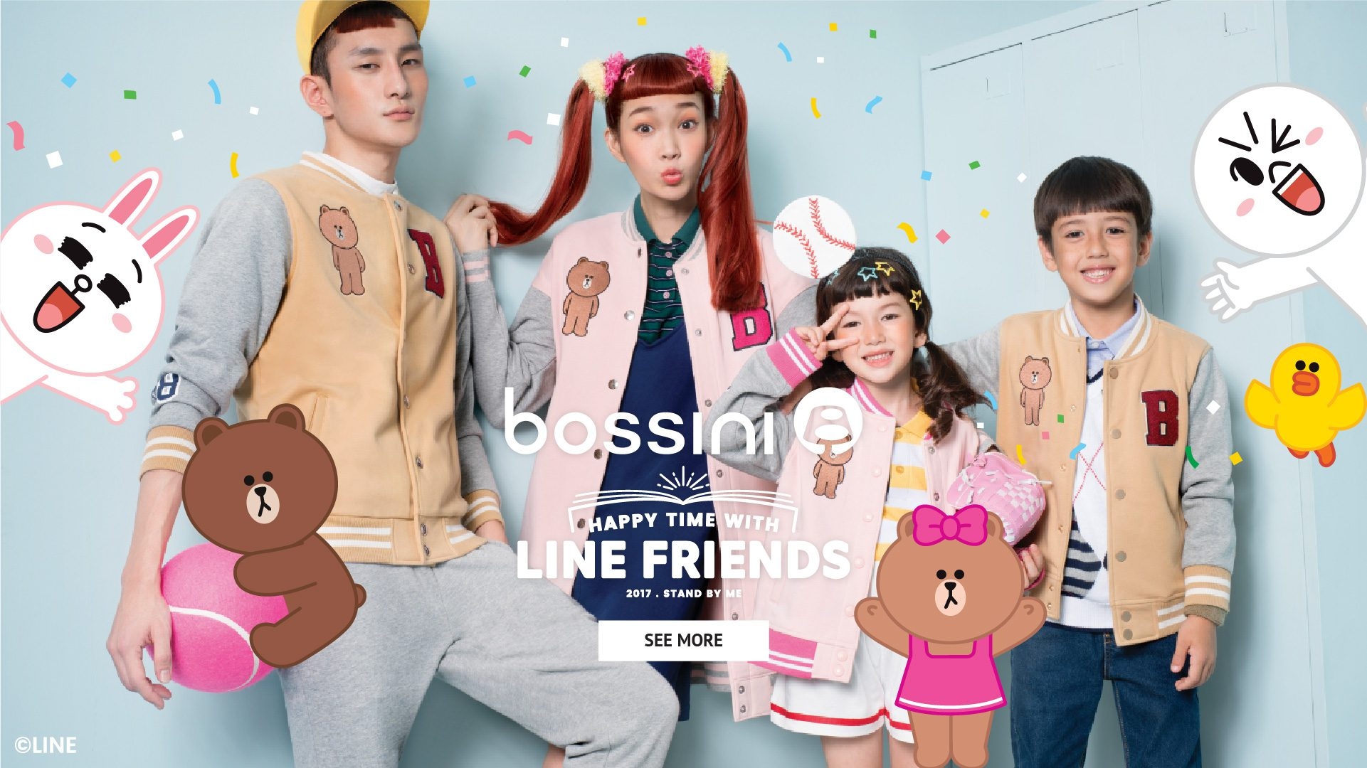 Happy Time with LINE Friends with Bossini X LINE Friends Collection