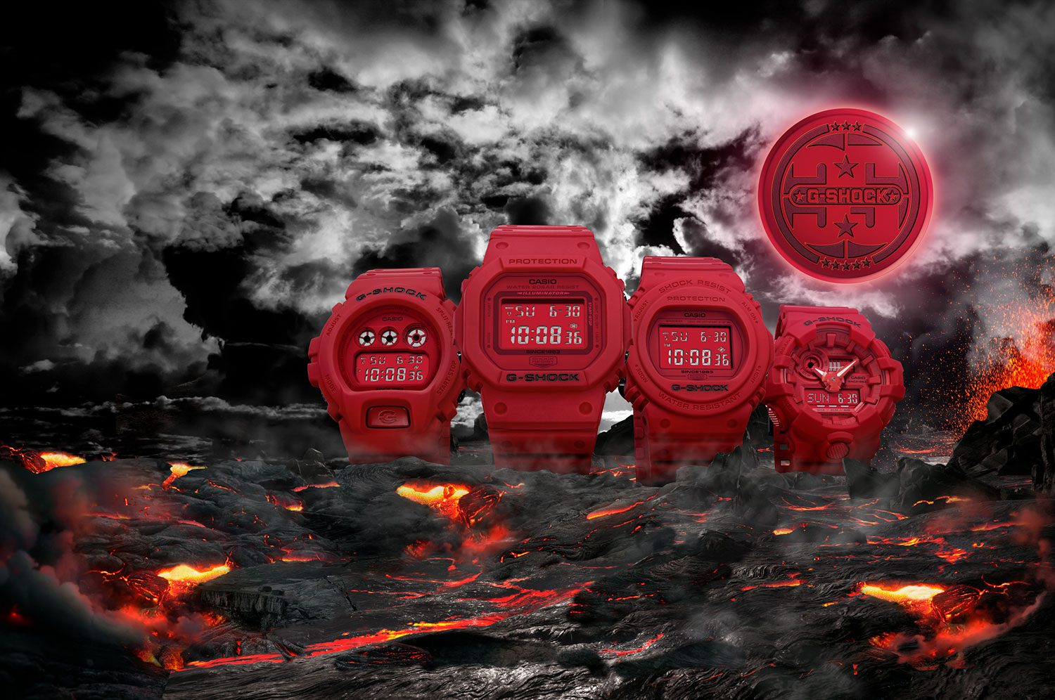 CASIO 35th Anniversary G-SHOCK RED-OUT Collection