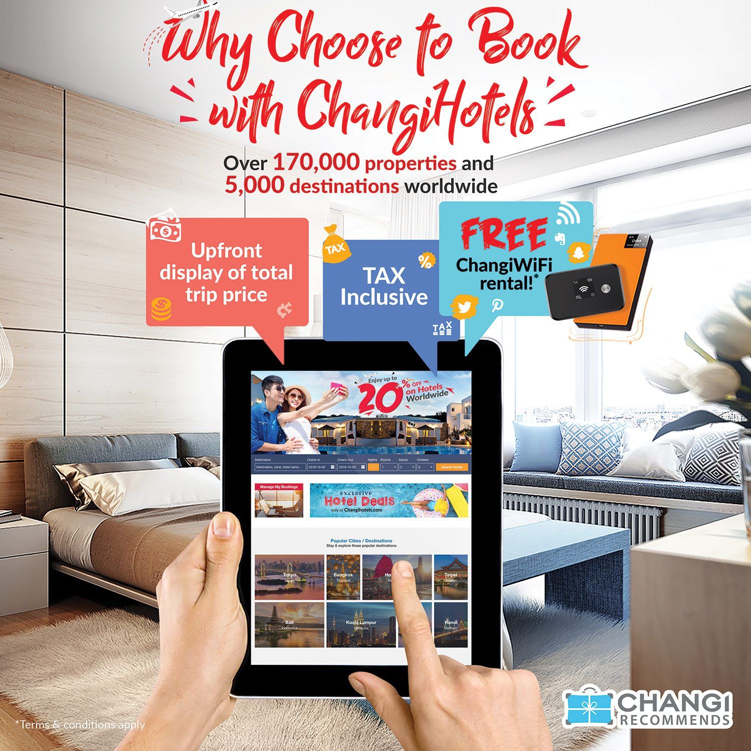Changi Recommends introduces ChangiHotels