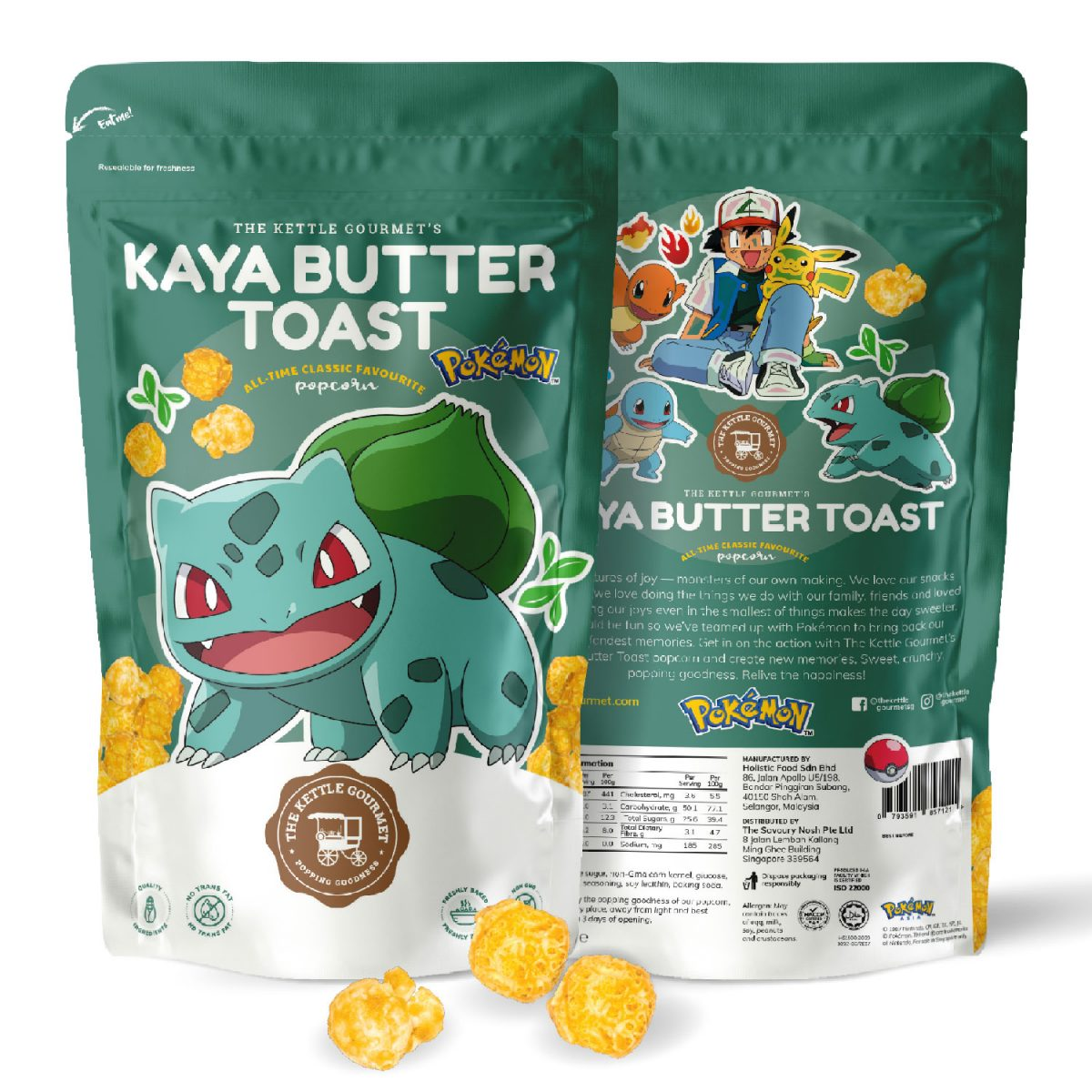 Singapore-based popcorn brand, The Kettle Gourmet launches a series of Pokémon Popcorn