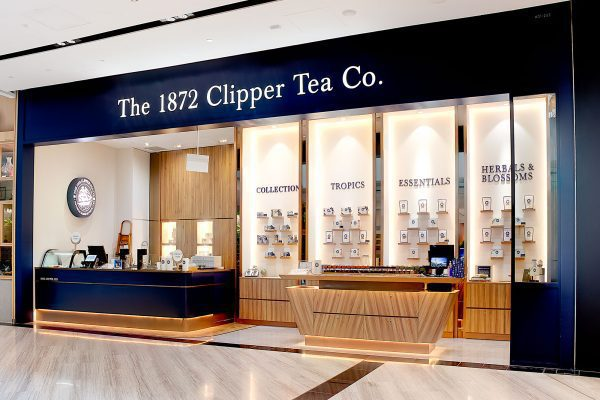 The 1872 Clipper Tea Co Store Front at Jewel Changi